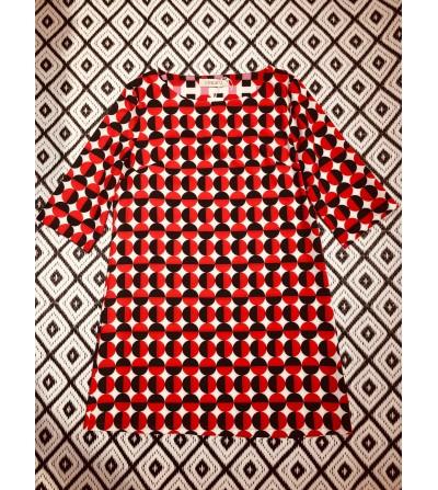 Vestido de estampado geométrico